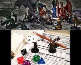 【始祖D&D】RPGはゲームの『盤』が「ゲーム盤」と「個人(キャラクターシート)」そして「シナリオ」に分かれているのが特徴で、それぞれの「シート」が相互に影響を与え合う。