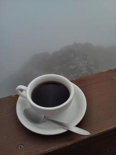北穂高山荘のコーヒーは旨い。
