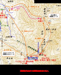 登山ルートのみの解説、ちなみに一の越で【エスケープ可能】ハイキングと共に下山できる。