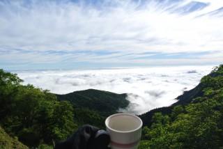 北八ヶ岳 やまびこ荘でコーヒーと雲海