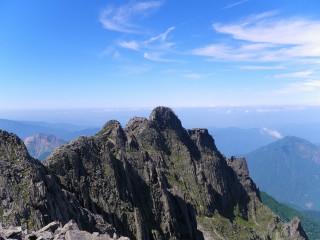 ジャンダルムと周辺の岩峰帯