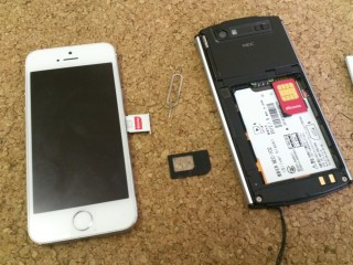 iPhoneのSIMとWP-06CのSIMサイズは違うがどちらもdocomo
