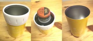 真空断熱タンブラーに入れると、缶でもビールでも『冷たいまま』『温かいまま』