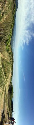 この日は、関空から六甲山までが見渡せた。