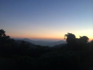 【黄昏】美しい夕日が3日間楽しめた。