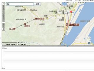 【まずは検索】スタート地点を「左上の検索ボックス」で検索する。探したい地名を入れて「検索」クリック