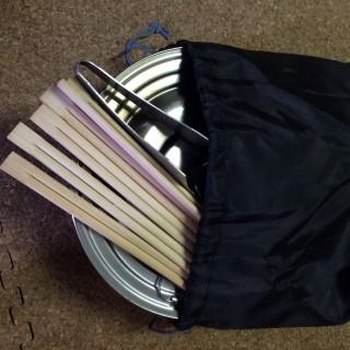【100均の弁当箱の袋】おおむねジャストサイズです。