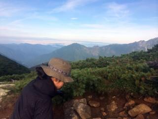 【飛騨側】穂高連山は長野と岐阜(飛騨)の間にあるため、右と左では景色も、警察の管轄も違う