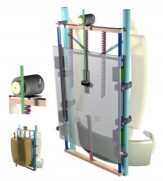 【原理】ネイチャーなどに取り上げられた原理図、フレームの中に発電ユニットを埋め込んである。