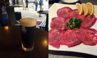 【多彩】立ち飲みも2軒あり、焼肉屋 味楽はなかなか良い肉が出る。