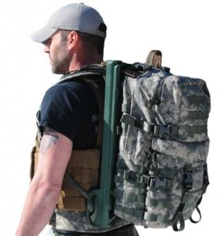 【LightningPack】製品化も間近のモデル、なおモニターの兵士によると背負い心地も「通常のバッグより良い」という。