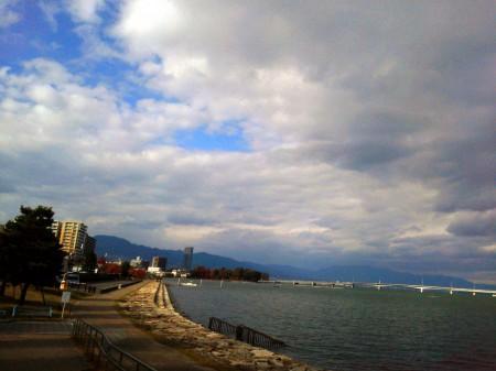 【秋のびわ湖】調査に行った時に見つけた「大津の湖岸公園」