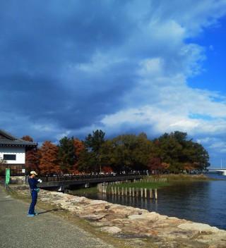 【膳所城跡公園】びわ湖は本当に美しい