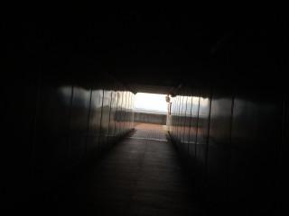 【トンネルをくぐる】近江大橋は下をくぐる。