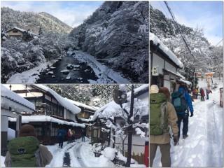 【清滝】今回は清滝の集落の中を抜けて参道(登山口)に向かった。まあ小さな谷あいなので大して距離は変わらないが。