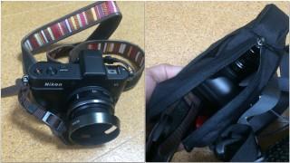 【カメラも入る】ミラーレス機「Nikon V1」に大きなレンズガードをつけても入るので、無ければ普通のズームレンズもOK