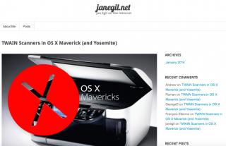 【OS X+TWAIN】OS9の時にはアップルからリリースされた「Bridge」アプリケーションが有志の力で実現。