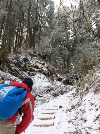 【登りやすい山】最大斜度でもこの程度、このルートなら厳しいところはほとんど無い。
