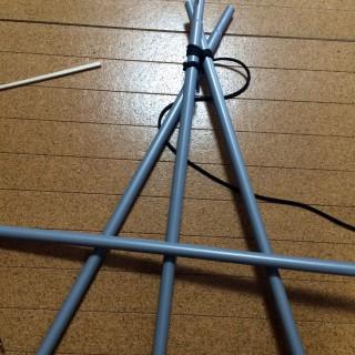 【横に棒を入れる】筋交いは立体物には必須。