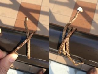 【巻き結び】ヒモが通るところならどこにでも結べて「締めやすい」のが特徴。