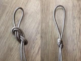 【ダブルエイトノット】二重八の字結び、山岳登攀の教本にも出てくる「ループ」のつくり方だ。
