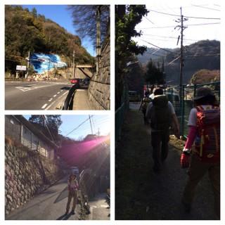 【大谷の新登り口】ただし右の写真は下山時