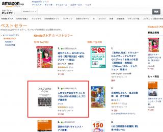 【人気ブログのつくり方】個人が作った電子書籍としては圧倒的な順位ですね!!