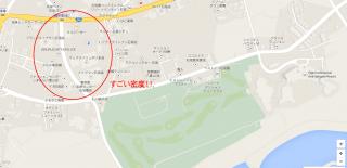 【十字砲火】空港と市街の間、市街地寄りにあります。