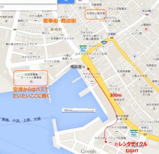 【中心地から近い】簡単便利な立地、大阪なら「遠い」かもしれませんが、ファミマのアイコンを見ていただいてわかるようにコンビニもこの間隔でしかないので「相場」というものです。