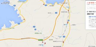 【レイヤ:避難所】これであれば日本海の「若狭湾」近辺の避難所の位置が表示されている。ズームアップも可