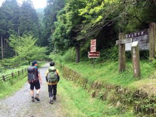 【東海道自然歩道】八瀬から山頂に行くには車道を通過する必要があるがこのルートだとほぼ必要が無い。