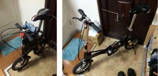 【最小自転車】サイクロバイク、本当はさらに「タイヤ」も畳めます。