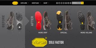 【Vibram社のサイト】全世界の有名アウトドアメーカーが「パートナー」だ。多分あなたの家の「登山靴」も7割位はビブラム