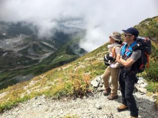 【午後・雲が下界から押し寄せて来た】奥大日岳方面も見えなくなっている。