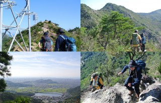【岩の稜線】なかなかアルプス感のある中、鷹巣山へと上がっていく。