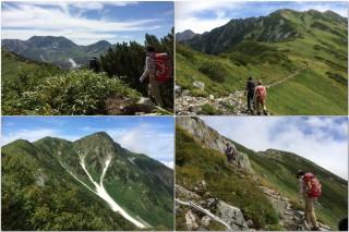 【新室堂乗越】付近の写真、左下の写真は「のっこし」の分岐からホンの1分剣御前側に入ったところからの大日岳の写真だ、大日岳に行くつもりでもここは必見!!