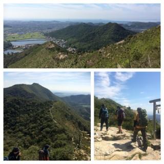 【ウマノセ(写真上)】市ノ池登山口から30分で鷹巣山、高御位へ1時間とのこと。