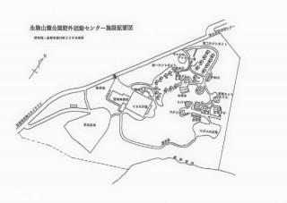 【施設地図】これは野外活動センターで、公園全体としてはこれの5倍ほどの敷地で様々な施設があります。