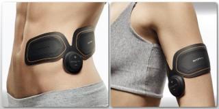 【BodyFitはフレキシブル】何処にでも張り付きます、腹筋も普通に前に貼ってもOK