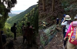 【休憩ポイントの後に・・・】数箇所ある小さな谷の一つが大きく崩れていた。