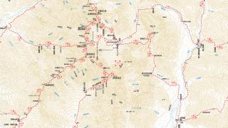 【ヤマタイム】山と渓谷社のサービスサイト、各ルートのポイント間の時間が表記されている。