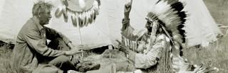 【シートンとカナダンインディアン】シートンはカナダの森で身につけたウッドクラフトの技術を子供達に伝えた。