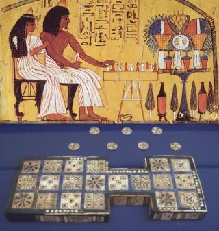 【メソポタミア時代から】都市国家Uruで行われたゲーム、バックギャモン(盤双六)の祖先と考えられている。