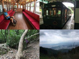 【八瀬から】叡山電車はレトロ車両など面白い企画が続いている、登山道は荒れていた。