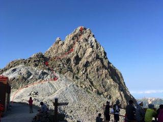 【登りルート写真】まあ実際には現地の→○×を良くみて登ってください。