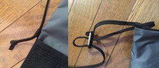 【シンプルな構造】長さ調整も簡単で紐も「結んで止まっているだけ」なので交換さえ容易です。長さ調整も「ずっと」なら結び目をずらしてしまえばOKの簡単設計!!