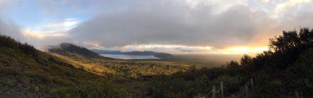【パノラマ】ここだけ見ると時間が早いだけで初日と雨の具合は変わりません。