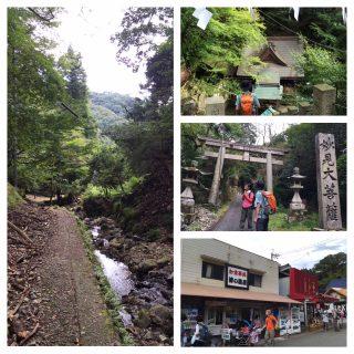 【滝道は崩れが酷い】とはいえこれが最短ルートだが…バスが無ければさらにここから15分ほど歩く事に。